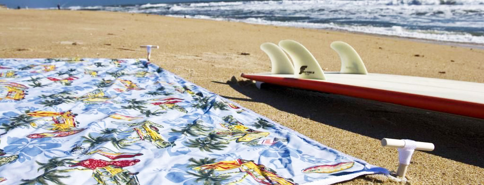 Relax on the beach after your surf session!